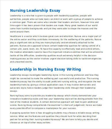 Writing A Leadership Essay Opinion Of Experts Essay Help