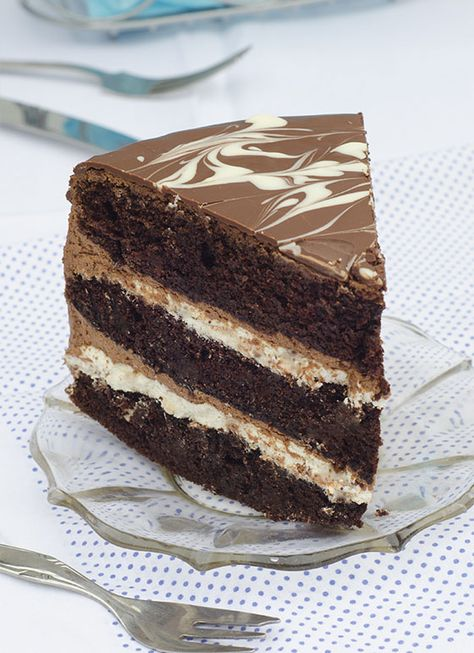 Tuxedo Cake -this is also great for holidays and special events like a grooms cake at a wedding!