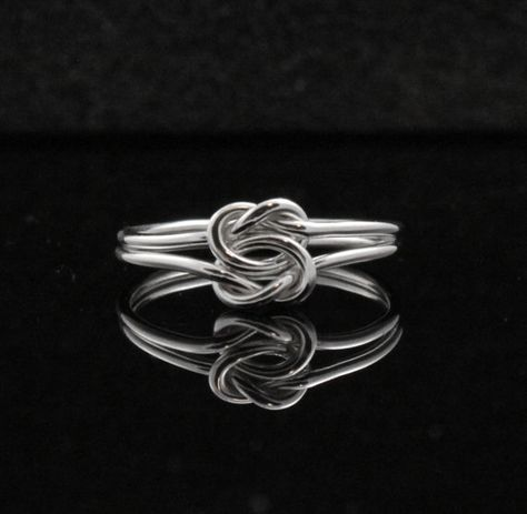 Double knot ring. Double infinity ring. Sterling Silver infinity ring, Celtic knot, Chinese knot Commitment ring. $34.00, via Etsy.