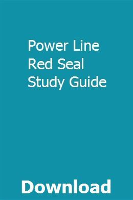 Power Line Red Seal Study Guide Study Guide Ged Study Guide Earth And Space Science