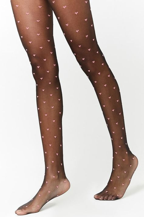 Product Name:Sheer Heart Tights, Category:ACC, Price:6.9