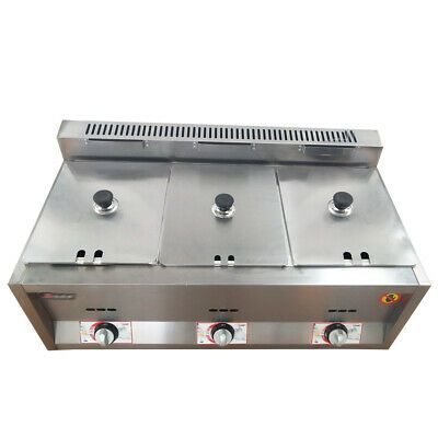 Ad Ebay New 3 X 6l Commercial Countertop Steam Table Deep Pans