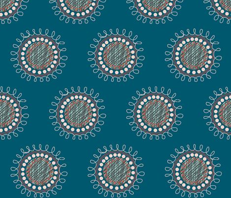Spiral circles fabric by lucybarnesdesign on Spoonflower - custom fabric