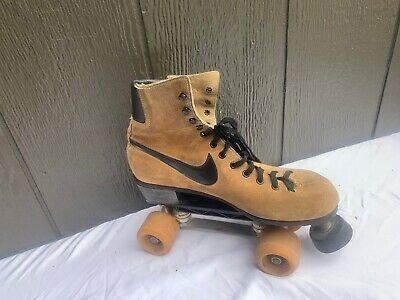 Advertisement Ebay Vintage Nike Brown Leather Roller Skate Derby Mens 10 1970 S Rink Retro Swoosh In 2020 Retro Roller Skates Vintage Nike Nike Brown