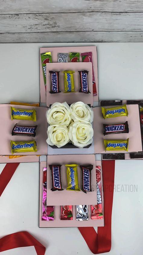 #diy #candy #chocolate #chocolatebox #valentines #valentinesday #gift #giftideas #quickgift #diygift