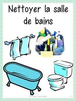 les tâches ménagères - nettoyer la salle de bains ... - Entretien Salle De Bain