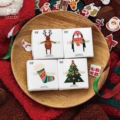 Santa Claus Christmas Self-adhesive DIY Album Scrapbooking Stickers Diary Decor