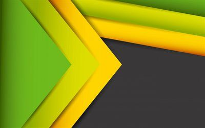 Download Wallpapers Abstract Art Green Yellow Yellow Black