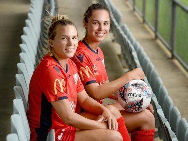 Us International Amber Brooks And Adelaide United Captain Emma