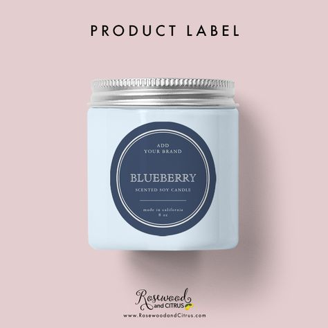 Personalized Candle Labels by Rosewood and Citrus on Zazzle