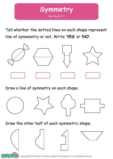 Symmetry Math Worksheet For Kids For More Interesting Maths Worksheets And Activities For Kids Visit Symmetry Math Symmetry Worksheets Kids Math Worksheets