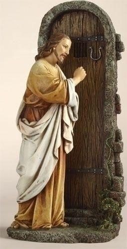 Jesus Christ Figurine Knocking At Door Jesus Knocking On Door