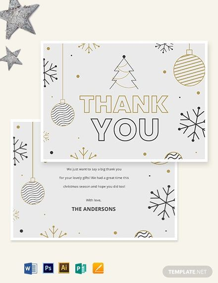 Holiday Thank You Card Template Word Psd Apple Pages Publisher Illustrator In 2020 Card Templates Printable Sympathy Thank You Cards Printable Thank You Cards