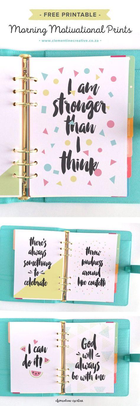 Morning Motivational Prints {Free Printable} - Clementine Creative | DIY Printable Stationery