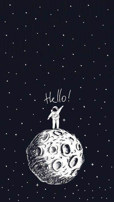 50 Astronaut Wallpaper Ideas Astronaut Wallpaper Wallpaper Space Space Drawings Astronaut black and white wallpaper