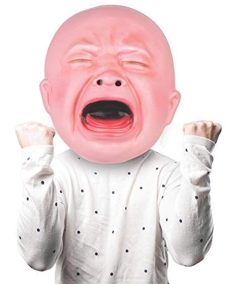 Crying Baby Face Mask | Meme Baby