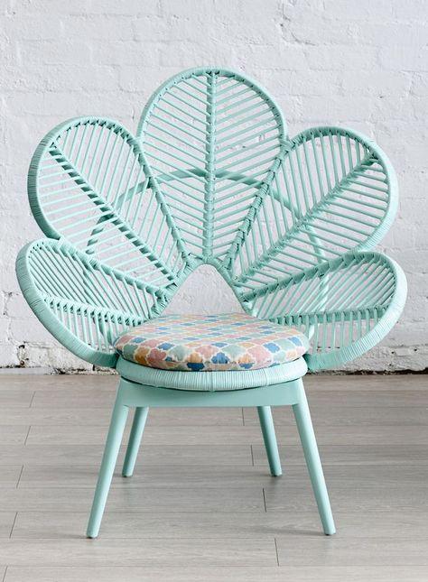 Comment ne pas craquer devant ce fauteuil fleur vintage en ...