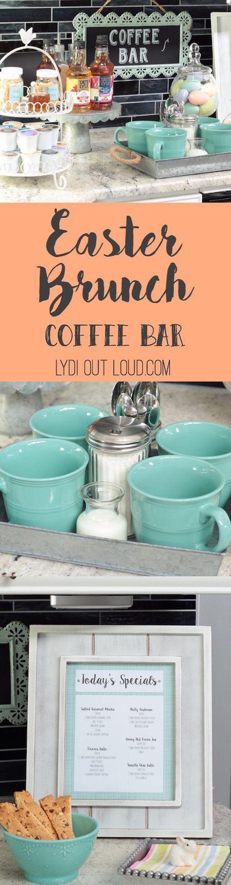 Brunch Coffee Bar Easter Brunch Bar Easter Brunch Menu Easter Brunch
