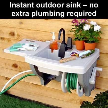 How cool is this?!? Outdoor sink. No