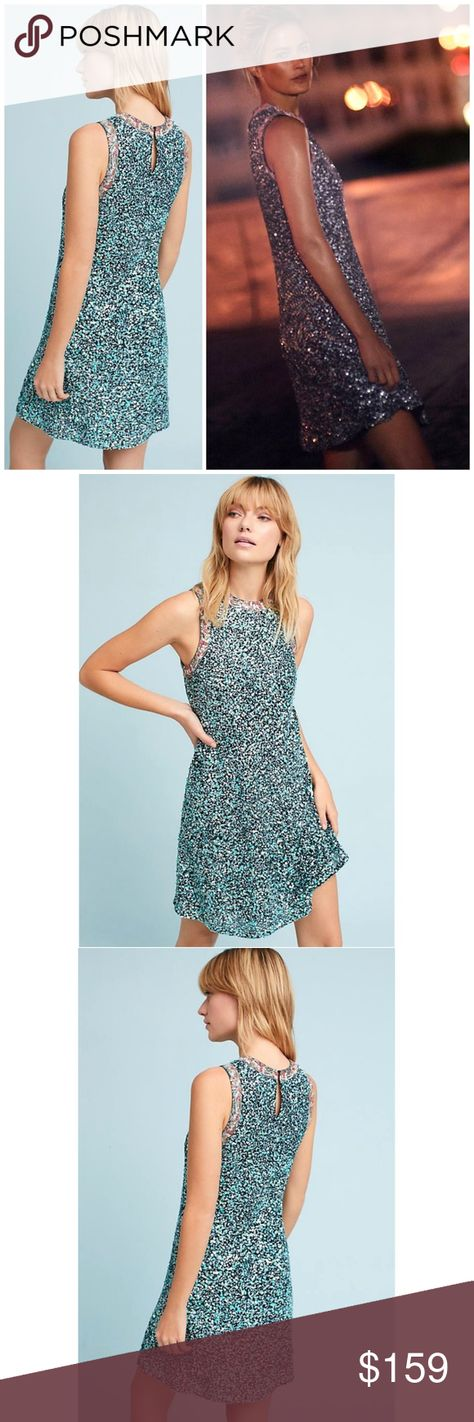 d39ad5dd5f3a NWT ANTHROPOLOGIE Varun Bahl Astronomy Swing Dress Brand new with tags NWT  ANTHROPOLOGIE Varun Bahl Astronomy Swing Dress. With all-over sequins, ...