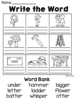 Phonics Worksheets Er Sound  / Pin On Preschool Kindergarten