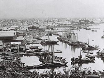 1907年(明治40年)頃の敦賀港の写真 | 古い写真, 写真, 昔の写真