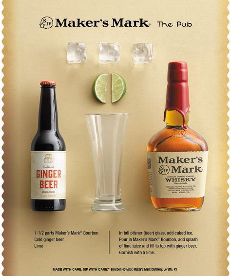 Who needs to go out when you can bring The Pub to your house? #bourbon #ginger
