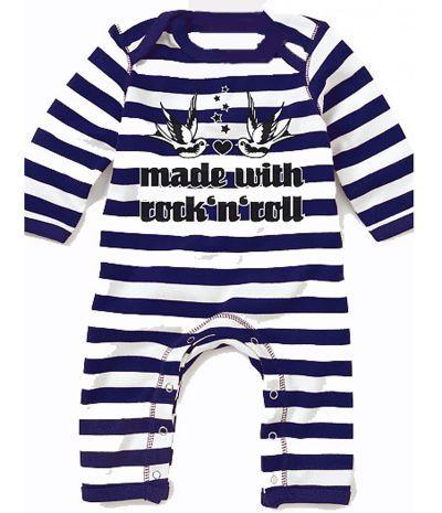 4853776985914 Pyjama bébé garcon original rock   pyjama bébé made with rock sans pieds