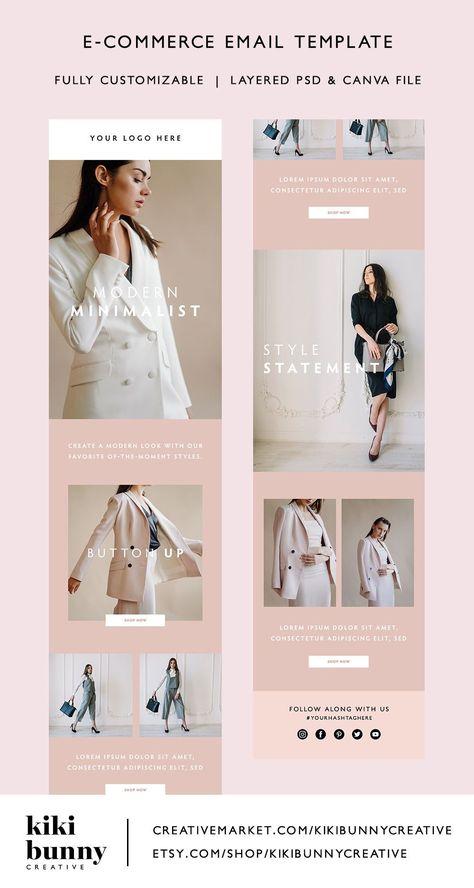 Minimalist Fashion Email Marketing Template | crystaltcreative.com