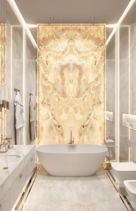 Best Bathroom White Gold Interiors 64 Ideas Bathroom Interior Marble Interior Luxury Bathroom