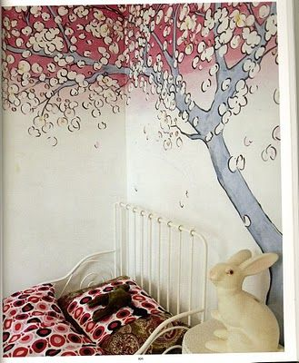 cool color palette tree wall art