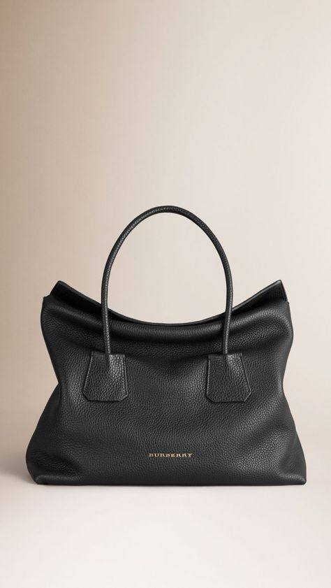 Medium Leather Tote Bag Burberry