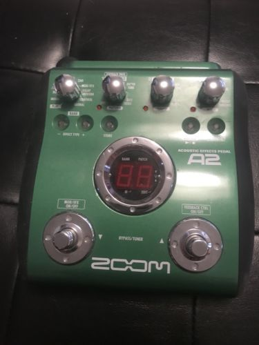 Zoom A2 Acoustic Guitar Effects Pedal Ex Condition Guitar Effects Pedals Effects Pedals Guitar Effects