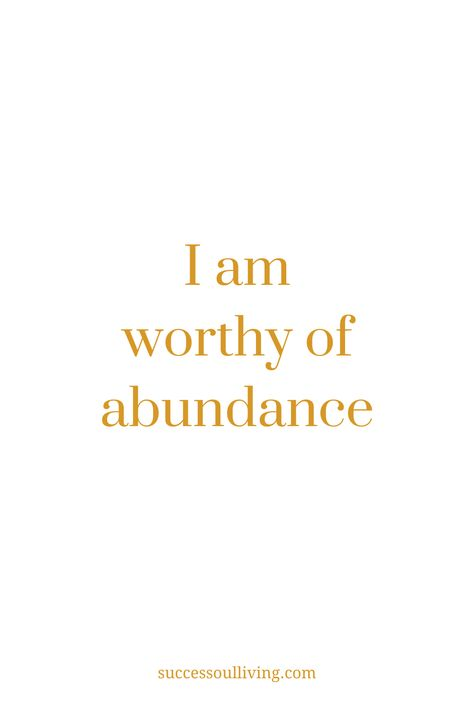 Looking for affirmations to attract money? Click through for 58 affirmations for success + abundance. Repeating the same words of phrases over and over again will reprogram your subconscious mind. Positive Self Affirmations, Prosperity Affirmations, Morning Affirmations, Money Affirmations, Positive Quotes, Gratitude Quotes, Affirmations For Success, Gratitude Ideas, Abundance Quotes