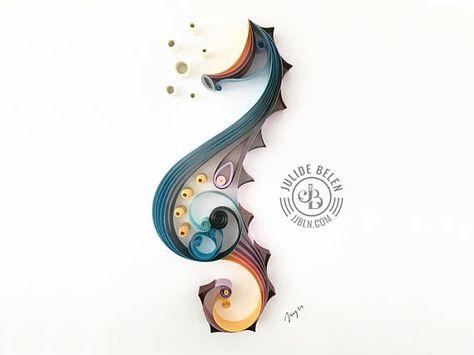 JJBLN Quilled Paper Art: Seahorse Quillling by Julide Belen