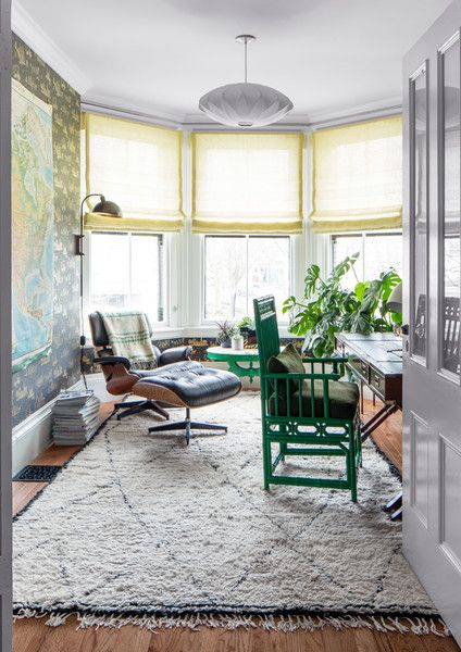 Office Goals - A Designer's Home That Takes Wallpaper To The Next Level - Photos