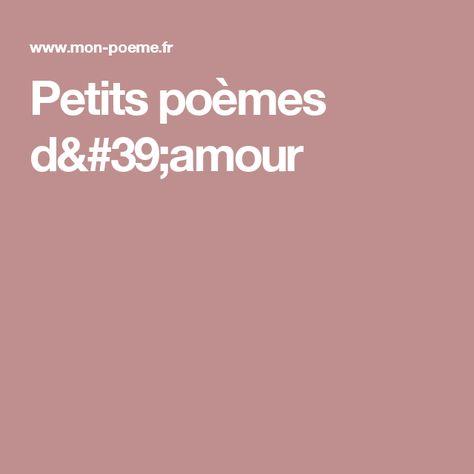 Petits Poèmes Damour Petit Poème Poeme Je T Aime Et Ma