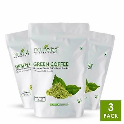 Details About 3x Neuherbs Organic Green Coffee Beans Powder For