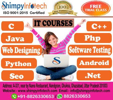 Learn Java Php C C Web Designing Html Css Javascript Jquery Responsive Webdesigning Bootstrap Shimpy Seo Training Web Design Software Testing