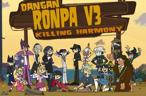 Total Drama Danganronpa Thing Part 3 by tizzy-will-rule on DeviantArt Monokuma Danganronpa, Danganronpa Funny, Danganronpa Characters, Super Danganronpa, Total Drama Island, Otaku, Trigger Happy Havoc, Another Anime, Cute Art