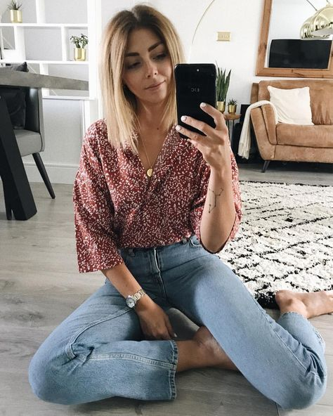 """Emma Hill on Instagram: """"Happiest at home ❤️ #ootd For outfit details check the link in my bio/profile  http://liketk.it/2vZ9s"""""""