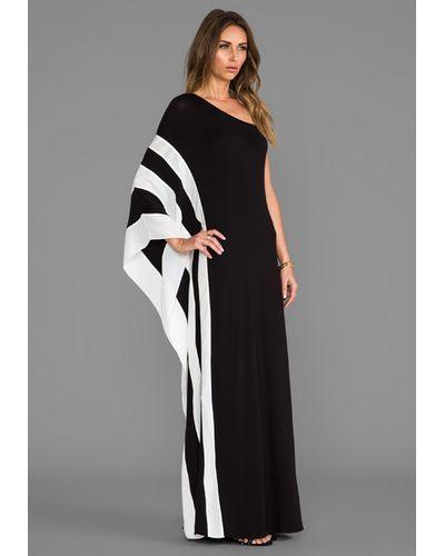 7092f179b07 Lyst - Rachel Zoe Azur One Shoulder Maxi Dress in Black in Black ...