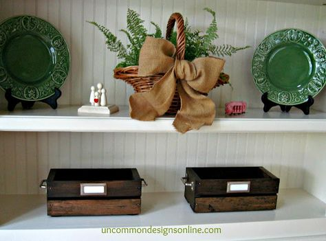 DIY Vintage Crate... Summer Reading Station Tutorial - Uncommon Designs...