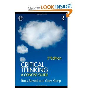 critical thinking a concise guide tracy bowell