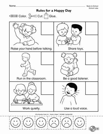Worksheets For Kindergarten Good Manners In 2020 Kindergarten Classroom Rules Kindergarten Social Studies Classroom Rules