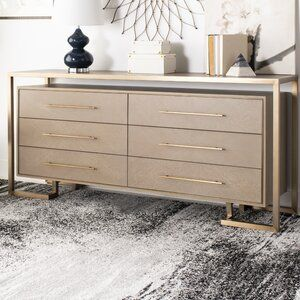 Everly Quinn Rowen 6 Drawer Double Dresser Wayfair Double Dresser Dresser Furniture