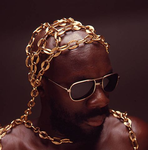 Portrait of American musician Isaac Hayes New York New York 1972 The photo was taken during a shoot for Essence magazine Black Music Artists, Afro, Isaac Hayes, Essence Magazine, Soul Jazz, Black Art Pictures, Vintage Black Glamour, My Black Is Beautiful, Soul Music