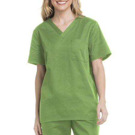 S.C.R.U.B.S Short Sleeve V-Neck Scrub Top ~ Small ~ Green
