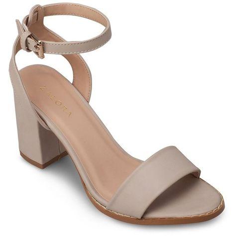 3758f6744bdf Shop ZALORA Ankle Strap Block Heel Sandals Online   ZALORA Singapore. FREE  Delivery Above  40