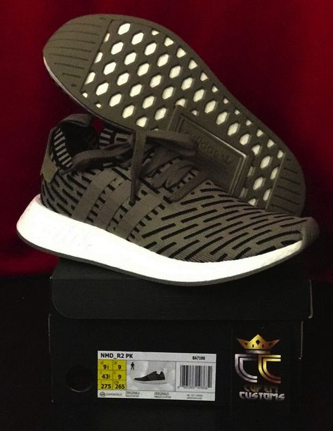 Details about NEW Adidas NMD R2 PK Trace Cargo Olive Green